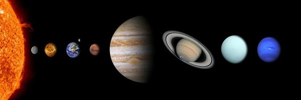太陽系の惑星の並び