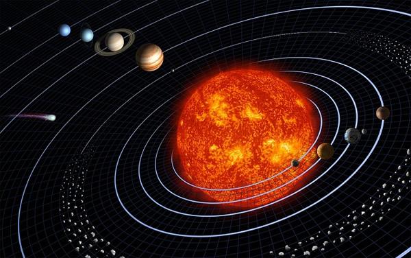太陽系をイメージしたイラスト