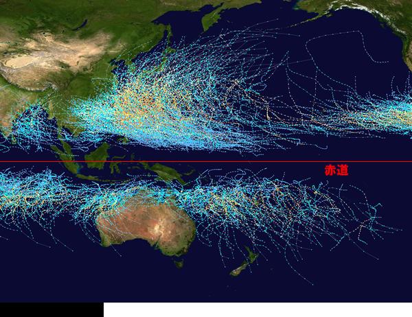 台風の中心経路