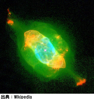 みずがめ座の土星状星雲(NGC7009)